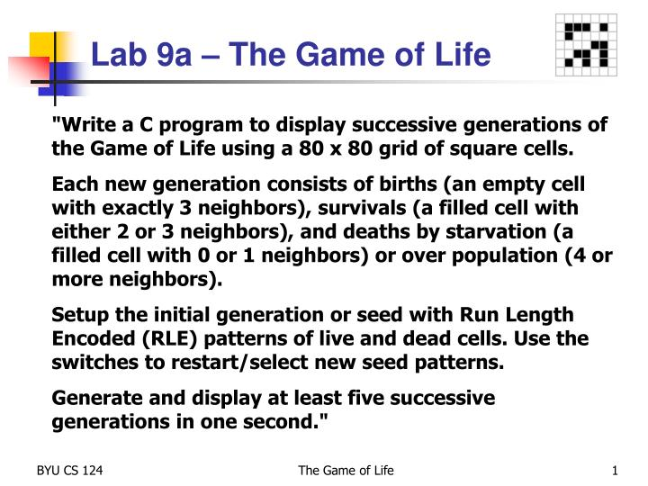 lab 9a the game of life n.
