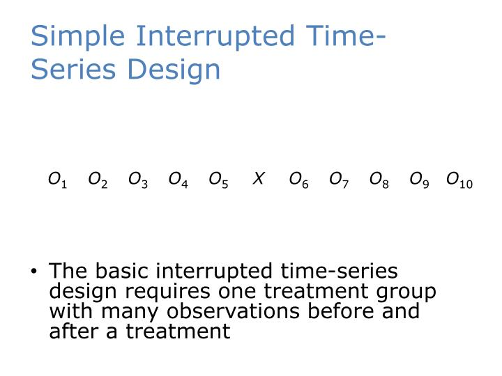Simple Interrupted Time-Series Design