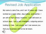 revised job application