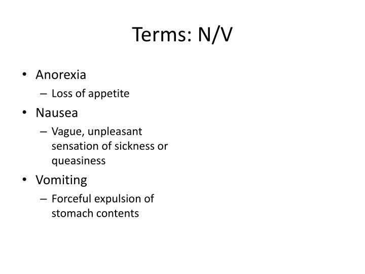 Terms: N/V