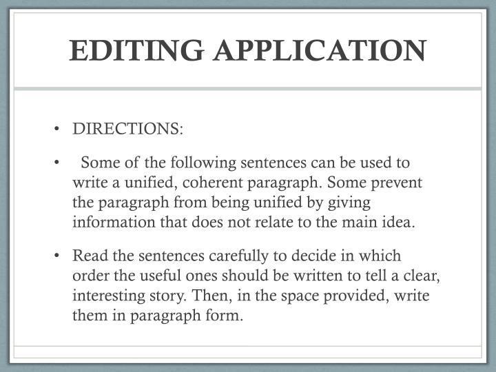 Editing Application