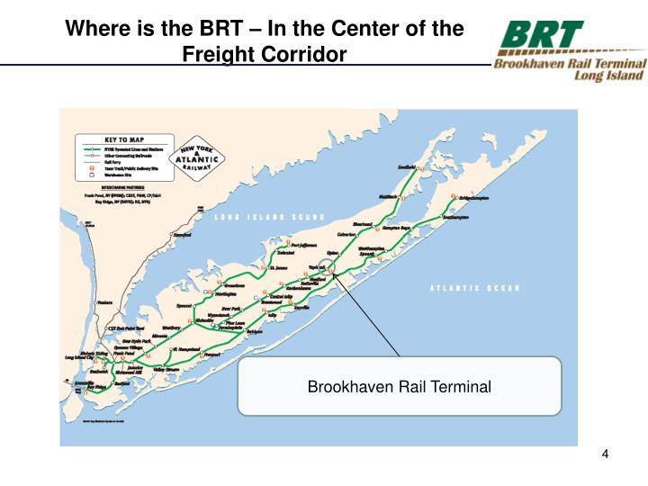 Where is the BRT – In the Center of the