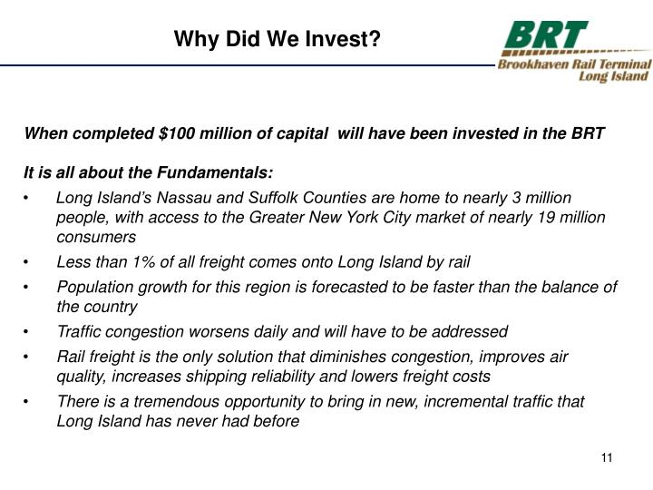 Why Did We Invest?