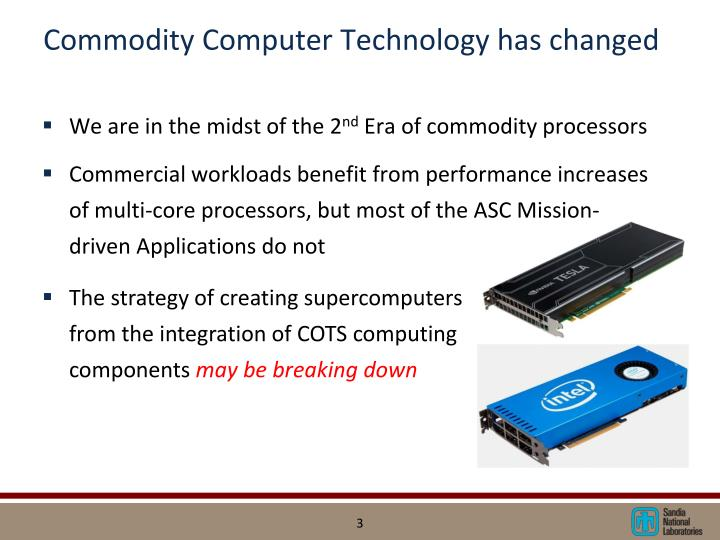 Commodity computer technology has changed
