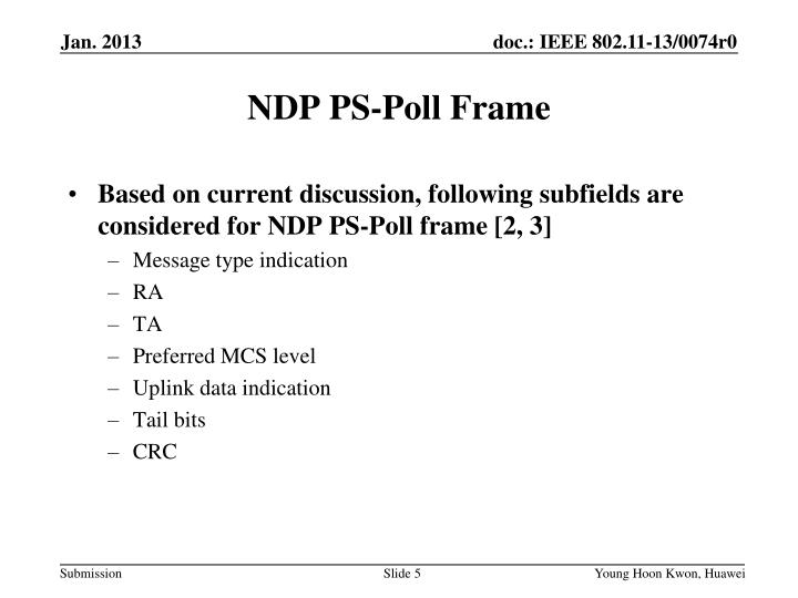 NDP PS-Poll Frame