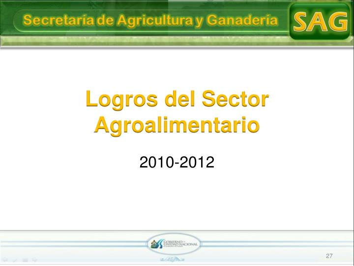 Logros del Sector Agroalimentario