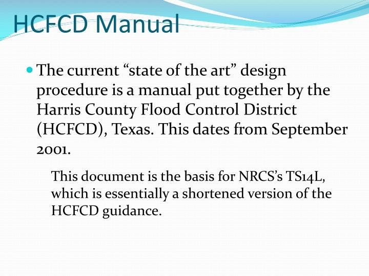HCFCD Manual
