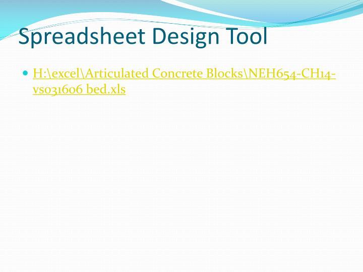 Spreadsheet Design Tool