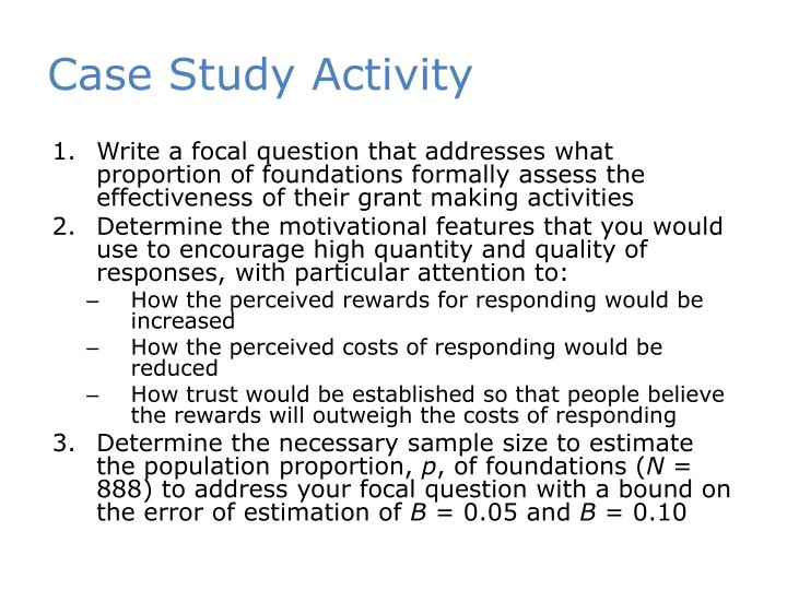 Case Study Activity