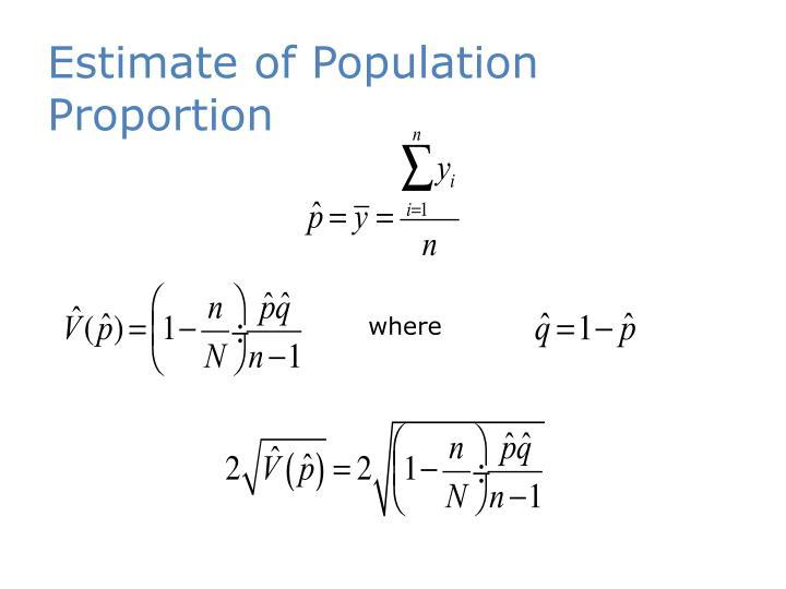 Estimate of Population Proportion
