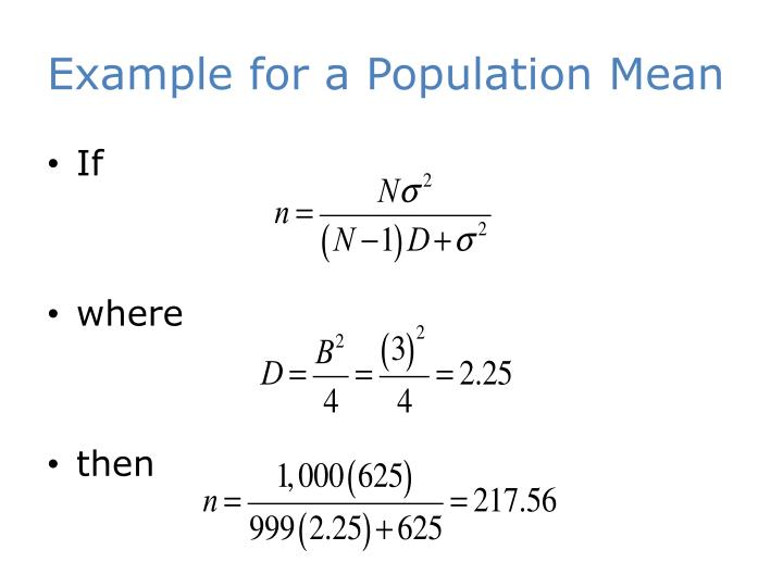 Example for a Population Mean