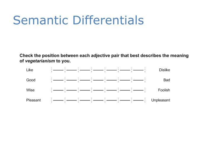 Semantic Differentials