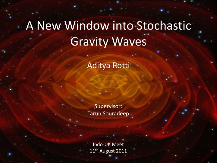 a new window into stochastic gravity waves n.