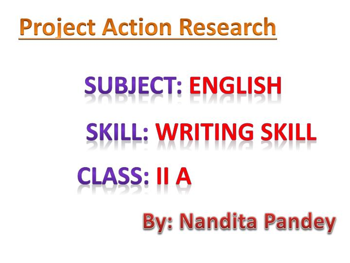 action research in english subject Transcript of action research: example from an esl classroom challenges of teaching in esl & english-speaking classrooms.