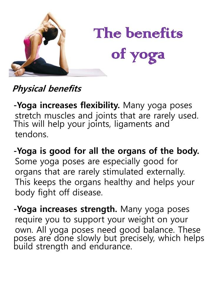 Ppt The Benefits Of Yoga Powerpoint Presentation Id