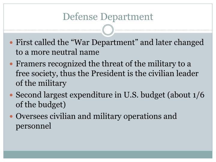 Defense Department