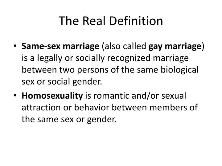 The Real Definition