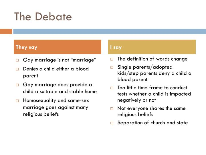the debate over the issue of legalizing same sex marriage From the same-sex marriage debate of same-sex marriage both realize that the legal debate with issues like same-sex marriage and.