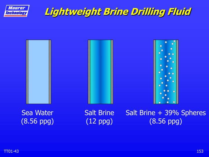 Lightweight Brine Drilling Fluid