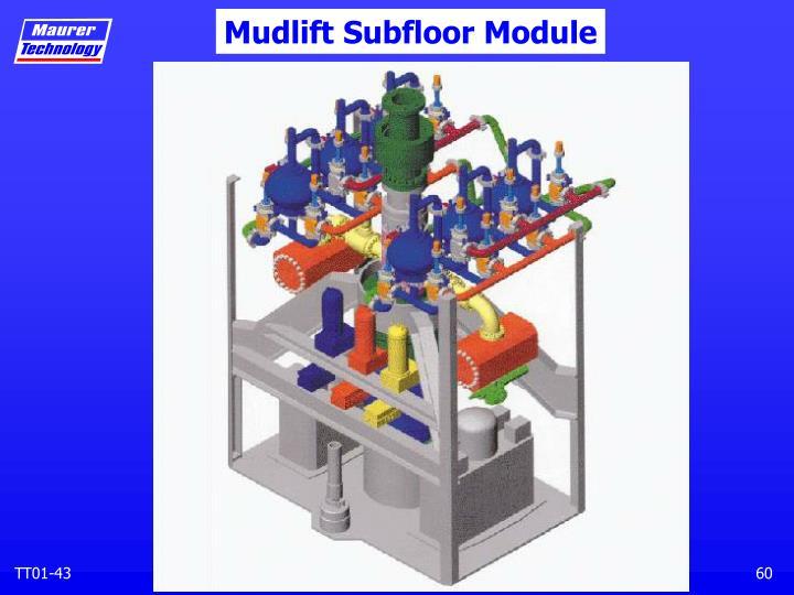 Mudlift Subfloor Module