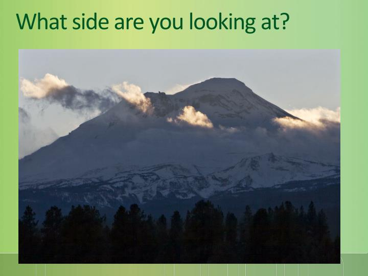 What side are you looking at?