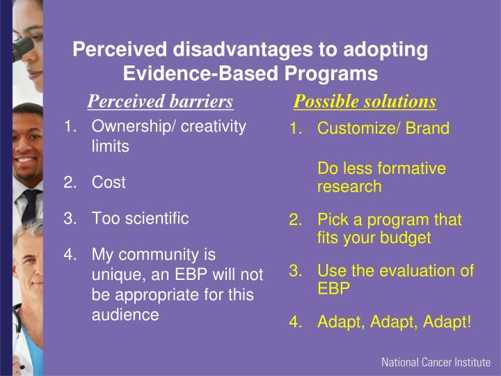 Perceived disadvantages to adopting Evidence-Based Programs