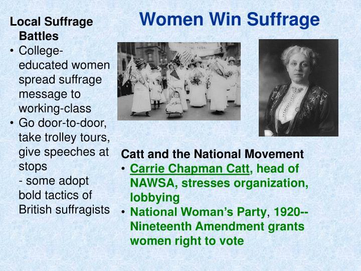 Women Win Suffrage