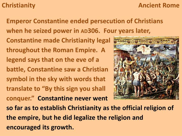 christianity in ancient rome