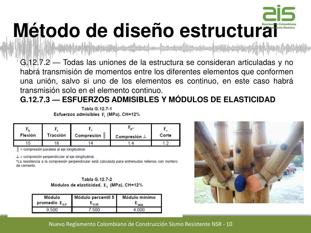 Ppt Titulo G Nsr 10 Estructuras De Madera Y Estructuras De