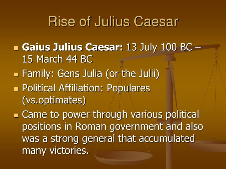 a study of the life and rule of julius caesar All of the most important julius caesar quotes are explained here to help you better understand the play if you haven't read julius cesar yet, you can find the full text of the play here  quote : soothsayer: beware the ides of march.