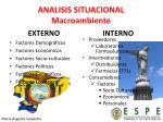 analisis situacional macroambiente