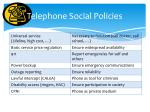 telephone social policies