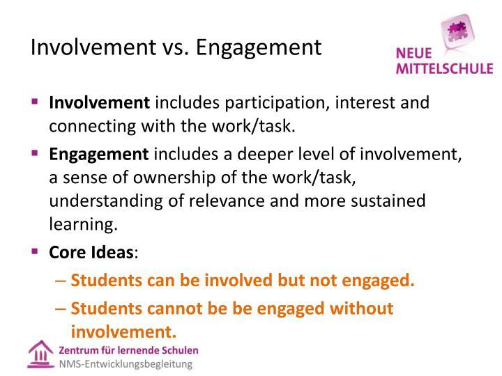 Involvement vs.