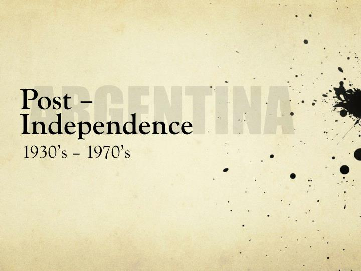 Post independence