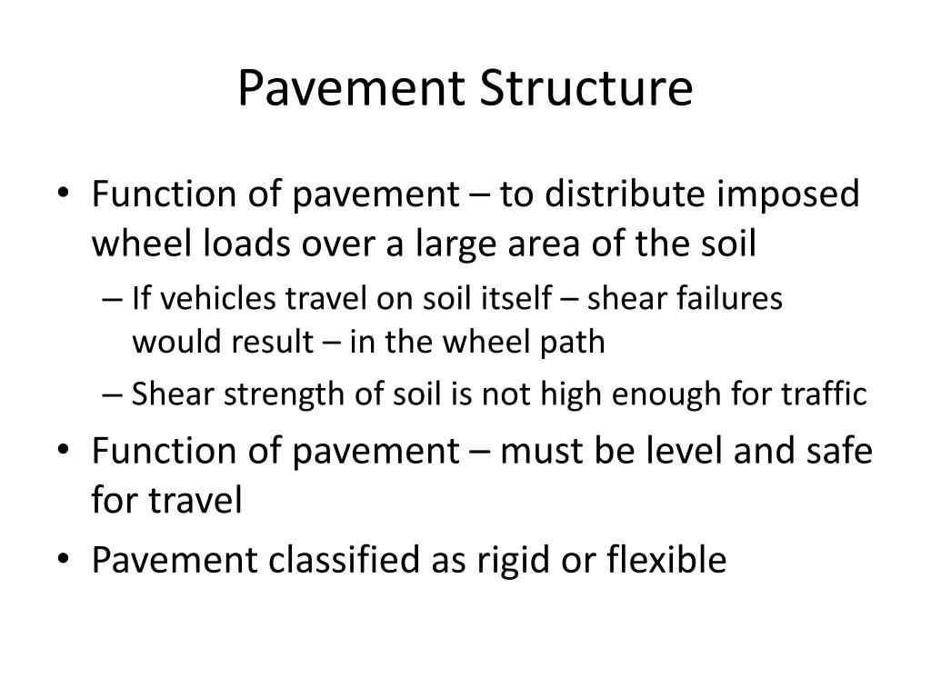 Ppt Pavement Structure And Base Powerpoint Presentation