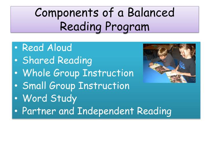 Components of a Balanced Reading Program