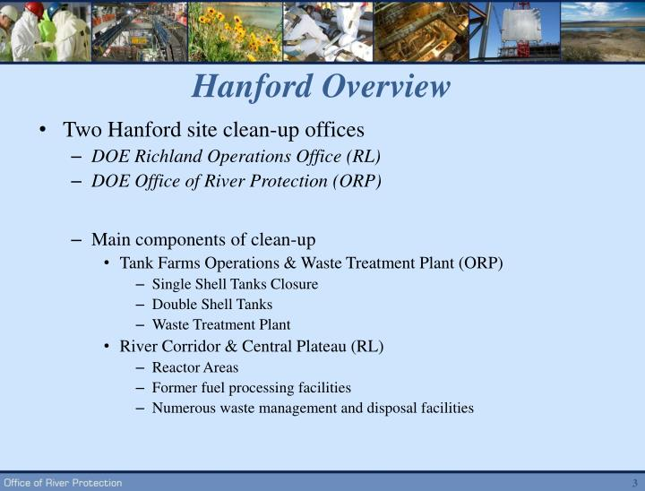 Hanford overview
