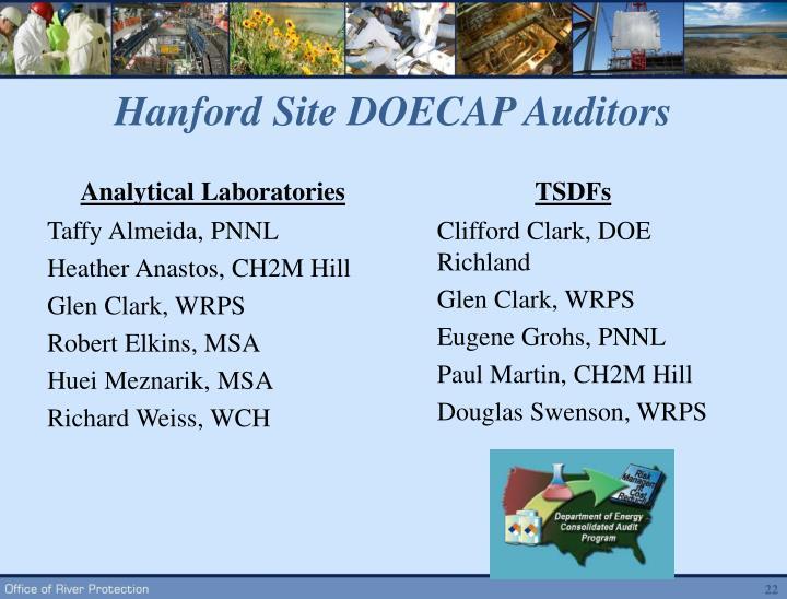 Hanford Site DOECAP Auditors