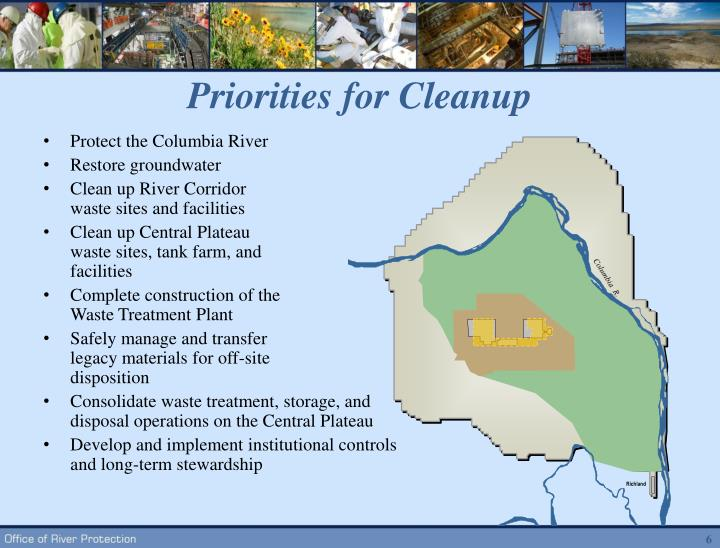 Priorities for Cleanup