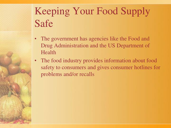 Keeping Your Food Supply Safe