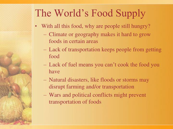 The World's Food Supply