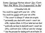 some serious notes about sin cont not the way it s supposed to be14