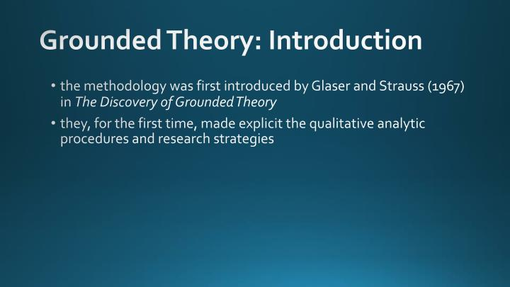 Grounded theory introduction