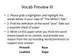 vocab preview iii