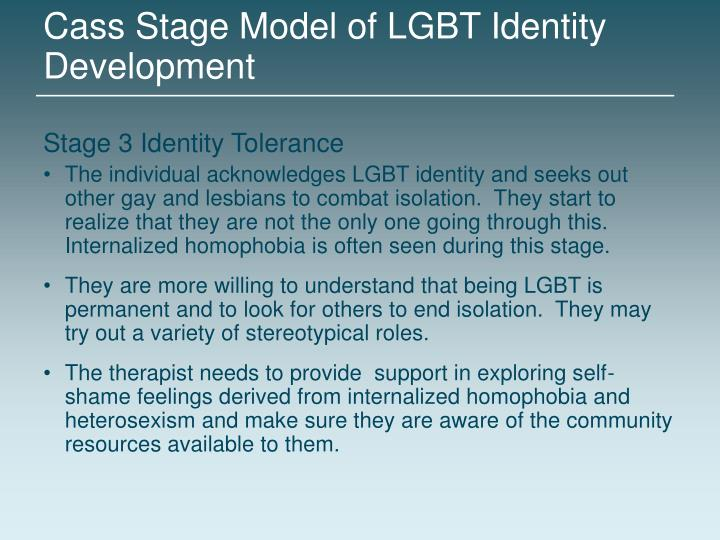 Cass Stage Model of LGBT Identity Development