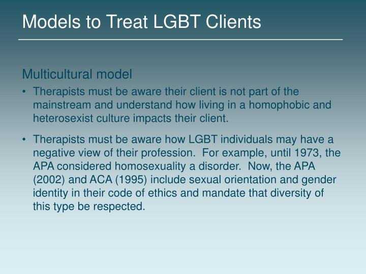 Models to Treat LGBT Clients