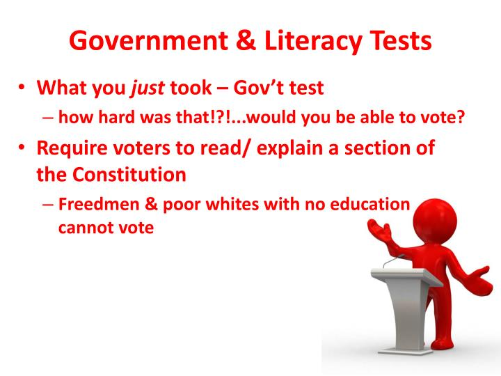 Government & Literacy Tests