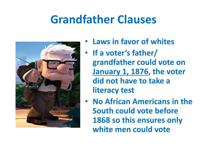Grandfather Clauses
