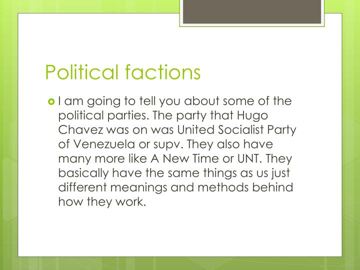 Political factions