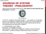 sources of system theory pholosophy